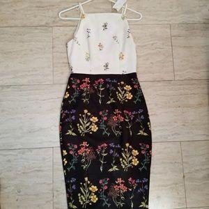 H&M Black/White Floral Dress